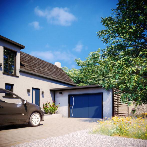 Description de nos portes de garage latérales - Porte de garage coulissante