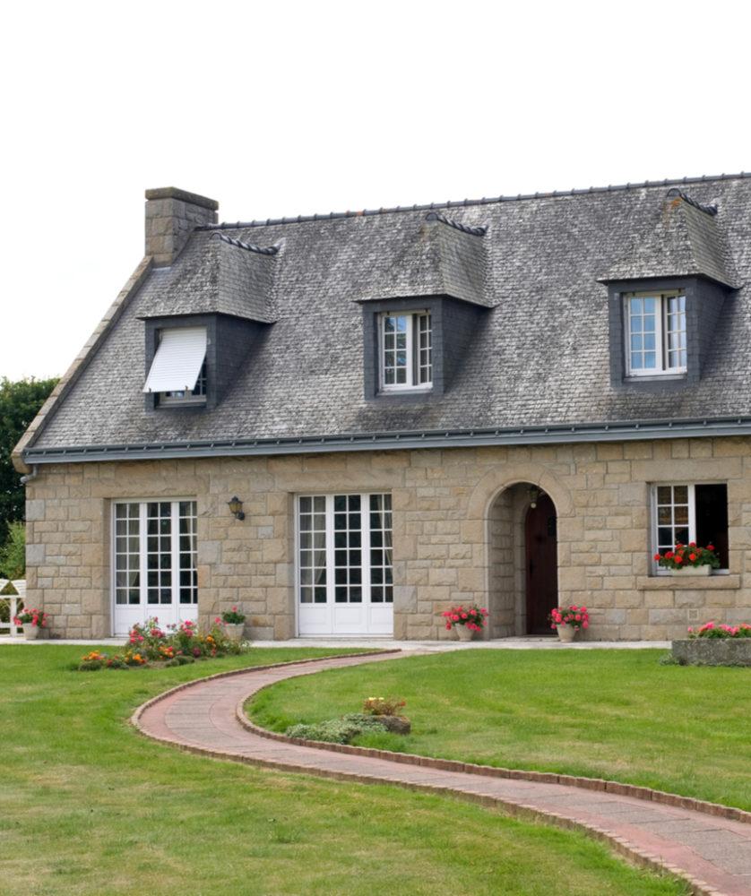 Fenêtres PVC maison traditionnelle