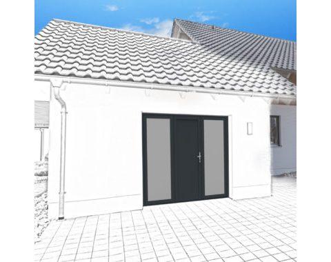Photo Porte de garage Zad à 3 vantaux vitrée