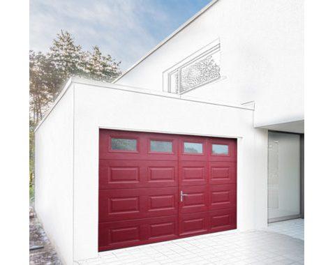Photo Porte de garage sectionnelle Activa à portillon